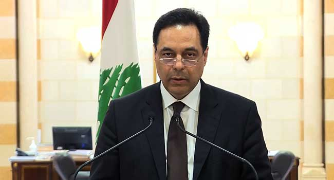 Lebanon's PM Diab Announces Resignation Of Government
